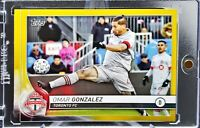 2020 Topps MLS Omar Gonzalez Gold Parallel 9/50 USMNT, Toronto FC, Great Card!