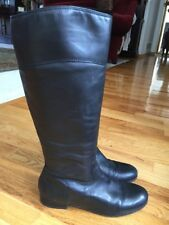 ARTURO CHIANG Black Leather Shoes Riding Knee High COSMO Boots 8 M 🦃Sale!