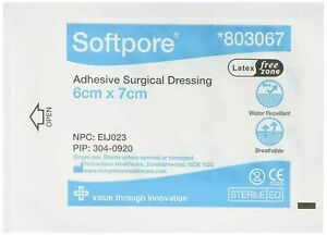 Softpore Dressings   6cm x 7cm   UK MADE   UK FREE DELIVERY