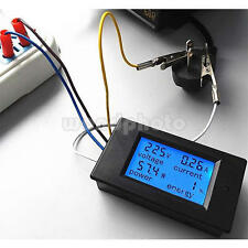 LCD Digital Multimeter Voltmeter AC 80-260V 100A Watt Volt Amp Meter Tester