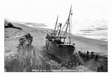 pt4645 - Withernsea wreck of the Trawler Leonora 1905 Yorkshire - photograph 6x4