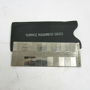 Surface Roughness Comparator Gage Vintage Silver