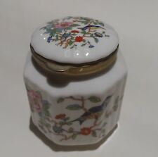 Aynsley Fine English China Pembroke Design Rare Trinket Jar Hinged Lid FreeP&PUK