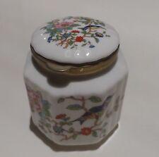 Aynsley Fine English China Pembroke Design Rare Trinket Jar Hinged Lid FreeP&PUK
