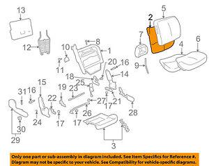 GM OEM Front Seat-Back Cushion Foam Pad 88897776