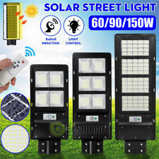 9900000LM Commercial Solar LED Street Light IP67 PIR Area Road Lamp+Remote+Pole