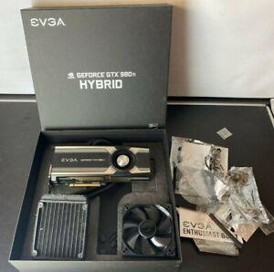 EVGA GTX 980Ti Hybrid Fan / Water Cooled GPU, Silent, AAA Condition, FULL BOXED!