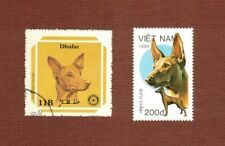 Pharaoh Hound dog postage stamps set of 2