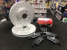 Audi A4 A5 A6 A7 Drilled & Grooved Brake Discs + Pads  320mm front