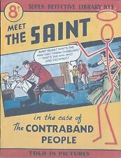 Leslie Charteris The Saint Contraband People Super Detective Library Number 1