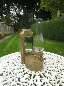 ANTIQUE VINTAGE WALL HANGING DUPLEX OIL LAMP BARGE BOAT SHEPPARDS HUT