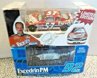 #92 Jimmie Johnson &  #57 Excedrin Jason Keller Racing Champions Die Cast Cars