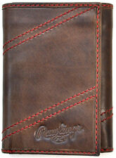 Rawlings Leather Goods Two Strikes Trifold Wallet - Brown