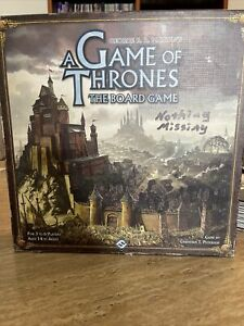 GEORGE R.R. MARTIN'S A GAME OF THRONES BOARD GAME, 2nd EDITION