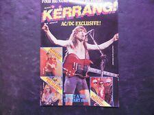 1980s Kerrang! Music Magazine January 9-22 No.111 AC/DC Exclusive