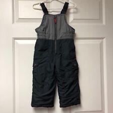 Carters Black Gray Snow Pants Bibs Overalls Snowsuit 24 Months Boys SnowPants