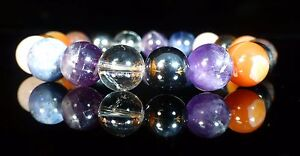 Chakra Magnetic Bracelet, Bloodstone, Hematite, Quartz, Amethyst