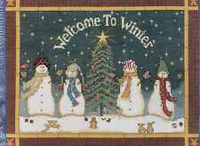 Welcome to Winter Snowmen Picture Christmas Cross Stitch Kit 51409 USA Made