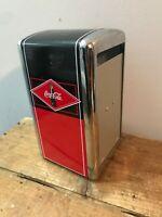 Vtg Coca Cola Napkin Holder Dispenser Retro Diner CC330WM Advertising Soda Pop