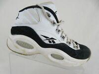 REEBOK Question Mid White/Black Sz 5.5y Kids Basketball Shoes