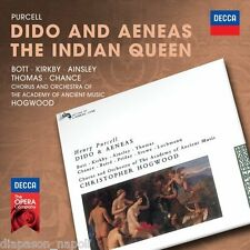 Purcell: Dido and Aeneas, The Indian Queen / Hogwood, Bott, Kirkby - CD Decca