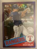 Nick Solak 2020 Topps Series 2 Silver Pack Chrome Purple Mojo Rookie RC 20/75