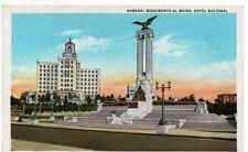 ANTIQUE POSTCARD MAINE MONUMENT NATIONAL HOTEL HAVANA