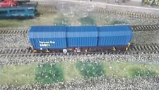 Model Rail 00 Gauge..Container wagon.Concertina Covers & removable Steel...