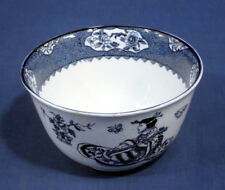 """Wood + Sons Woods Ware Blue and White China TSING Cranberry Bowl 5-1/8"""""""