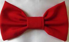 7 in (approx. 17.78 cm) Rojo Navidad gran arco de Pelo Pinza Cocodrilo Para Damas Niñas Nuevo