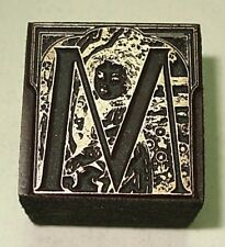 """ART NOUVEAU """"foto Alfabeto"""" Lettera """"M"""""""