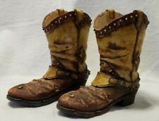 """Homco Home Interiors Western Wear Cowboy Boots Figurines 5 1/2"""" Tall"""