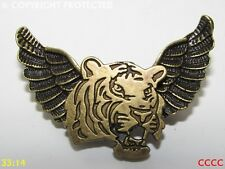 new Steampunk brooch badge pin owl wings tiger stripes wild cat Harry Potter