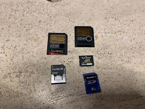 Speicherkarten: Smart Media Card 64 MB, 32 MB ; RS-MMC 32 MB, Fujifilm xD 128 MB