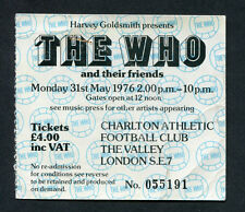 1976 The Who By Numbers concert ticket stub Charlton London Little Feat Outlaws