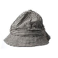 Houndstooth Floppy Bucket Hat