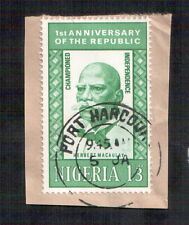 POSTAGE STAMP NIGERIA 1st ANNIVERSARY OF THE REPUBLIC / HERBERT MACAULAY / 1965