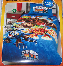 Skylanders Giants Single Bed Blue Printed Doona Quilt Cover Set Licensed New