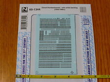 Microscale Decal N #60-1344 Diesel Numberboards with White Backing (1940-1990+)