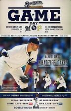 MARCO ESTRADA ON COVER MILWAUKEE BREWERS 2013 OFFICIAL GAMEDAY PROGRAM ISSUE #23
