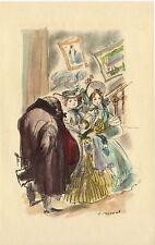 ILLUSTRATION de G. BARRET - Pierre Grassou - H. de Balzac - 1949.