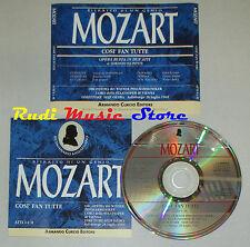 CD MOZART Cosi fan tutte atto I II 1991 CURCIO EDITORE SEIJI OZAWA lp mc dvd