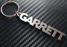 GARRETT nom personnalisé Porte-clé porte-clé Sur-mesure Acier Inoxydable Cadeau