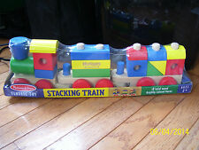 NEW SEALED HUGGIES REWARDS MELISSA & DOUG CLASSIC TOY STACKING TRAIN 18 WOOD TOY