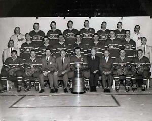 Montreal Canadiens 1955-56 Championship Team, 8x10 B&W Photo
