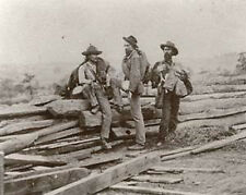 8X10 Inch Photograph 3 Confederate Prisoners New