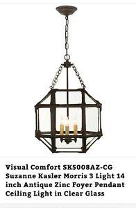Visual Comfort SK5008AZ-CG Suzanne Kasler Morris pendant chandelier light