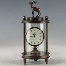 Antique handmade European Exquisite Brass Classical Mechanical Deer Clock