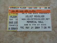Velvet Revolver Slash Concert Ticket Stub RARE May 14 2004 Memorial Hall