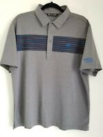 MENS Travis Mathew Polo Short Sleeve Shirt Golf Mens sz L Gray Logo Flying Horse